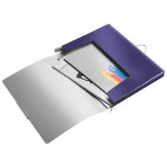Elastobox Leitz Style PP A4 25mm titanium blauw