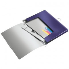 Elastobox Leitz style A4 PP 2,5cm titaanblauw