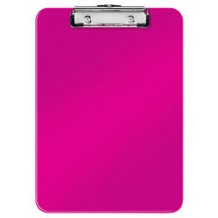 Klemplaat Leitz WOW PS A4 80vel roze metallic