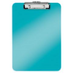 Klemplaat Leitz WOW PS A4 80vel ijsblauw metallic (3971051)