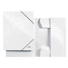 Dossiermap Leitz WOW gelamineerd karton A4 3-kleppen wit metallic (398201)
