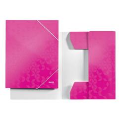 Dossiermap Leitz WOW gelamineerd karton A4 3-kleppen roze metallic (398223)