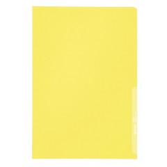Zichtmap Leitz PP A4 130µ gekorreld transparant geel (100)