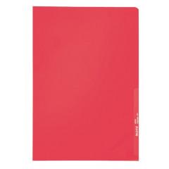 Zichtmap Leitz PP A4 130µ gekorreld transparant rood (100)