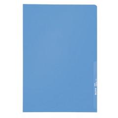 Zichtmap Leitz PP A4 130µ gekorreld transparant blauw (100)
