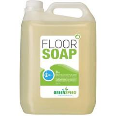Vloerzeep Ecover Greenspeed Floor Soap met lijnzaadolie citrus 5l