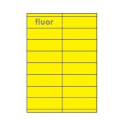 Etiketten Eticopy 16 etik/bl 105x35mm fluo geel (200)