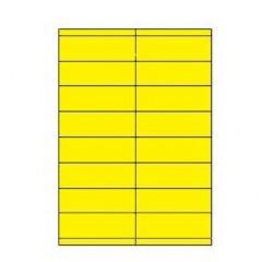 Etiketten Eticopy 16 etik/bl 105x35mm geel (200)