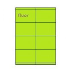 Etiketten Eticopy 08 etik/bl 105x70mm fluo groen (200)