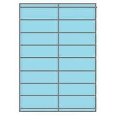 Etiketten Eticopy 16 etik/bl 105x35mm blauw (200)