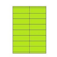 Etiketten Eticopy 16 etik/bl 105x35mm groen (200)