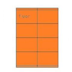 Etiketten Eticopy 08 etik/bl 105x70mm fluo oranje (200)