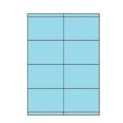 Etiketten Eticopy 08 etik/bl 105x70mm blauw (200)