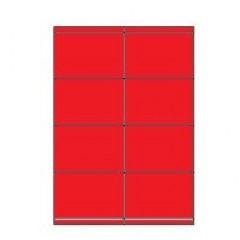 Etiketten Eticopy 08 etik/bl 105x70mm rood (200)