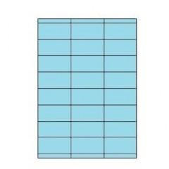 Etiketten Eticopy 24 etik/bl 70x35mm blauw (200)