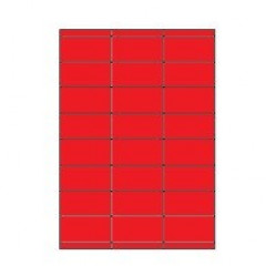 Etiketten Eticopy 24 etik/bl 70x35mm rood (200)