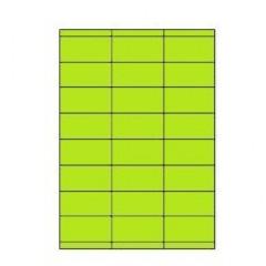 Etiketten Eticopy 24 etik/bl 70x35mm groen (200)