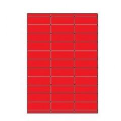 Etiketten Eticopy 33 etik/bl 70x25,4mm rood (200)