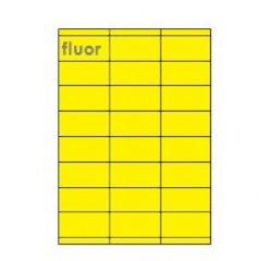 Etiketten Eticopy 24 etik/bl 70x35mm fluo geel (200)