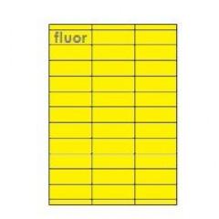 Etiketten Eticopy 33 etik/bl 70x25,4mm fluo geel (200)