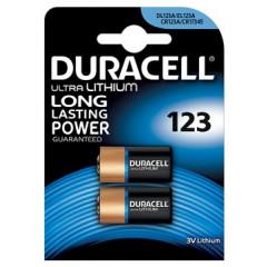 Batterij Duracell Ultra Lithium CR123 3V (2)