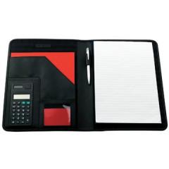 Conferentiemap Elba Pierre original incl. rekenmachine 27,5x34cm nylon zwart