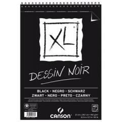 Tekenblok Canson XL A4 150gr 40vel zwart