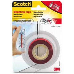 Montagetape Scotch transparant 19mm x 1,5m