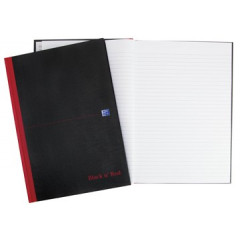 Notitieboek Oxford Black n' Red hardcover A4 gelijnd 192blz