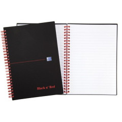 Spiraalboek Oxford Black n' Red PP A5 gelijnd 280blz