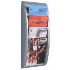 Folderhouder wand Paperflow A4 zilver