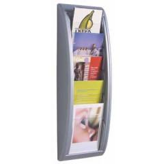 Folderhouder wand Paperflow A5 zilver