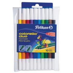 Viltstift Pelikan colorella duo assorti (10)