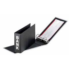 Bankringmap Pagna PP A6 2 ringen rug 5cm mat met motief zwart