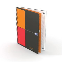 Spiraalboek Oxford International Notebook Connect hardcover B5 geruit 160blz