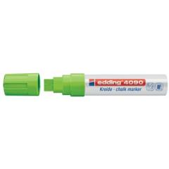 Krijtmarker Edding 4090 beitelpunt 4-15mm lichtgroen