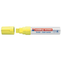 Krijtmarker Edding 4090 beitelpunt 4-15mm fluo geel