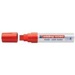 Krijtmarker Edding 4090 beitelpunt 4-15mm rood