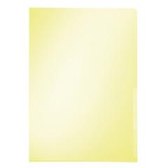 Zichtmap Leitz Premium PVC A4 150µ glashelder transparant geel (100)