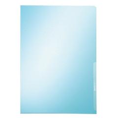 Zichtmap Leitz Premium PVC A4 150µ glashelder transparant blauw (100)