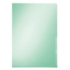 Zichtmap Leitz Premium PVC A4 150 micron glashelder transparant groen (100)
