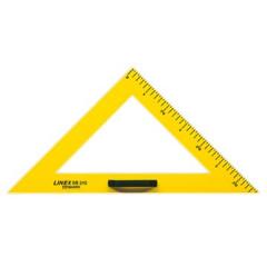 Geodriehoek Linex schoolbord 45/90° geel