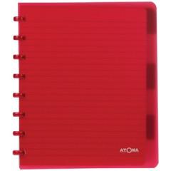 Schrift Atoma PP A5 maxi gelijnd 120blz met tabs transparant assorti