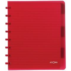 Schrift Atoma PP A5 maxi commercieel geruit 120blz met tabs transparant assorti