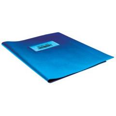 Schriftomslag 16,5x21cm 350 micron met venster en etiket blauw