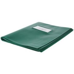 Schriftomslag 16,5x21cm 350 micron met venster en etiket groen