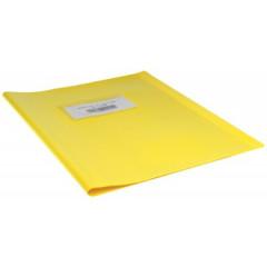 Schriftomslag 16,5x21cm 350 micron met venster en etiket geel