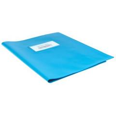 Schriftomslag 16,5x21cm 350 micron met venster en etiket lichtblauw