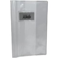 Schriftomslag 16,5x21cm 350µ met venster en etiket transparant