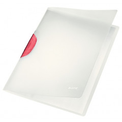 Klemmap Leitz ColorClip Magic PP A4 30vel rood